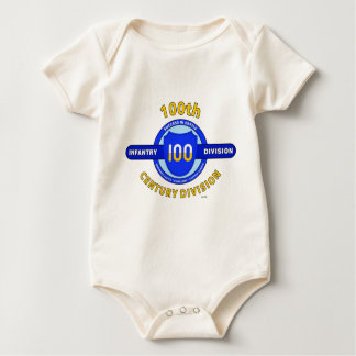 """100TH INFANTRY DIVISION """"CENTURY DIVISION"""" BABY BODYSUIT"""