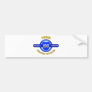 "100TH INFANTRY DIVISION ""CENTURY DIVISION"" CAR BUMPER STICKER"