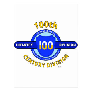 """100TH INFANTRY DIVISION """"CENTURY DIVISION"""" POSTCARD"""