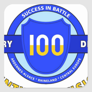 """100TH INFANTRY DIVISION """"CENTURY DIVISION"""" SQUARE STICKER"""