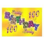 100th party invitation