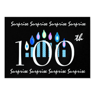 100th SURPRISE Birthday Party Invitation Template