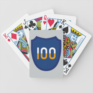 100th Training Division Bicycle Playing Cards