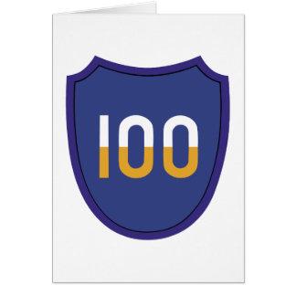 100th Training Division Insignia Card
