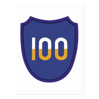 100th Training Division Insignia Postcard