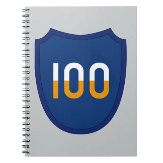 100th Training Division Spiral Notebook