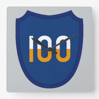 100th Training Division Square Wall Clock