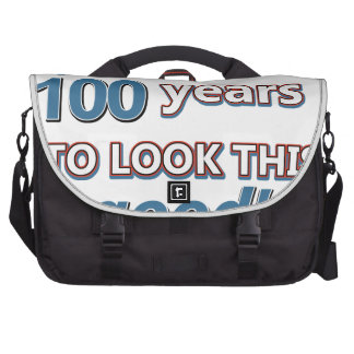 100th year birthday designs laptop commuter bag
