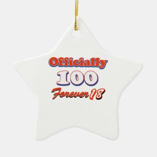 100th year birthday designs christmas tree ornaments