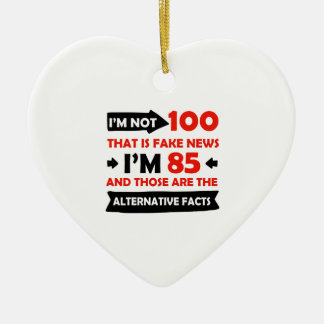 100th year old birthday gifts ceramic ornament