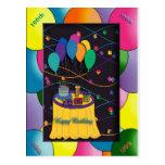 100thsurprisepartyyinvitationballoons tarjeta postal
