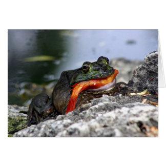 10187 Bullfrog eatiing a koi Greeting Card