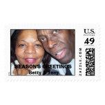 101_0082, SEASON'S GREETINGSBetty & Tony Postage Stamps