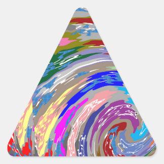 101 14 S TEMPLATE Square Image Triangle Sticker