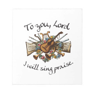 101:1 del salmo - ejemplo del Musical del vintage Libreta Para Notas