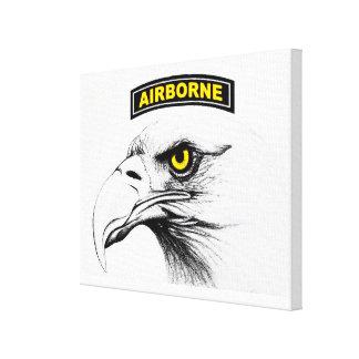 101 águilas de griterío de la lona lona envuelta para galerias