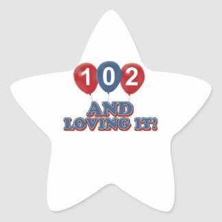 101 and loving it star sticker