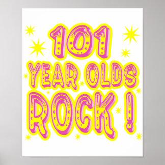 ¡101 años de la roca Impresión rosada del poste