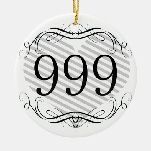 101 Area Code Double-Sided Ceramic Round Christmas Ornament