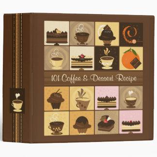 "101 Coffee & Dessert Recipe 2"" Binder"
