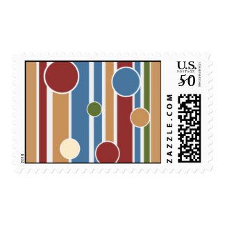101 COLORFUL STRIPES CIRCLES PATTERNS FUN PARTY GR POSTAGE