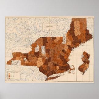 101 consumo NY, NJ, Nueva Inglaterra Poster