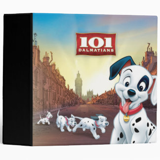 101 Dalmatian Patches Wagging his Tail 3 Ring Binder