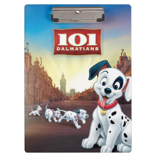 101 Dalmatian Patches Wagging his Tail Clipboard