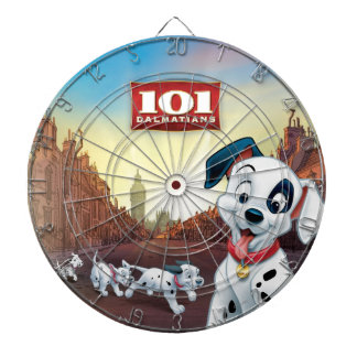101 Dalmatian Patches Wagging his Tail Dart Board