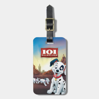 101 Dalmatian Patches Wagging his Tail Tags For Luggage