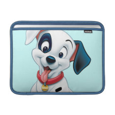 101 Dalmatian Patches Wagging His Tail Macbook Sleeve at Zazzle