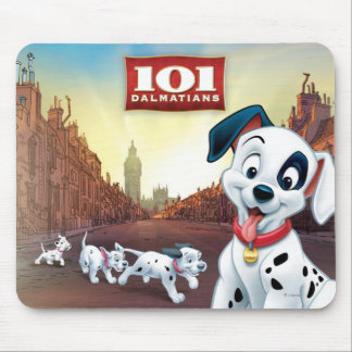 101 Dalmatian Patches Wagging his Tail Mouse Pad