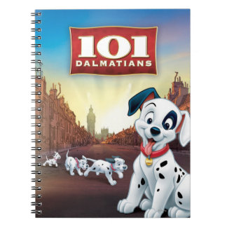 101 Dalmatian Patches Wagging his Tail Notebook
