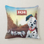 101 Dalmatian Patches Wagging his Tail Throw Pillows