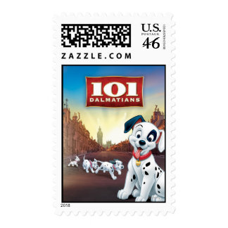 101 Dalmatian Patches Wagging his Tail Postage Stamps