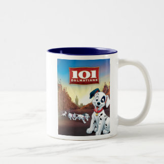 101 Dalmatian Patches Wagging his Tail Two-Tone Coffee Mug
