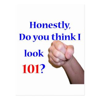 101 Do I Look 101? Postcard