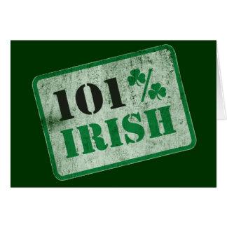 101% Irish - St. Patrick's Day Card