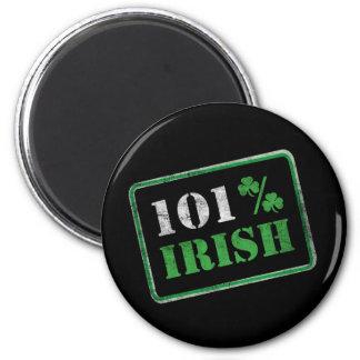 101% Irish - St. Patrick's Day 2 Inch Round Magnet