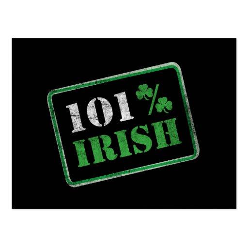 101% Irish - St. Patrick's Day Postcard