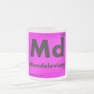 101 Mendelevium | Periodic Table of Elements Frosted Glass Coffee Mug