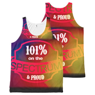 101% On the spectrum and proud tank All-Over Print Tank Top
