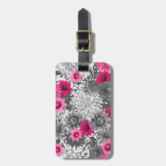 101 pink and grey photographic aop luggage tag