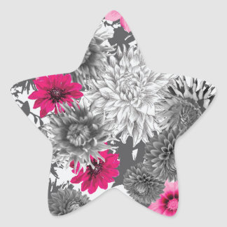 101 pink and grey photographic aop star sticker