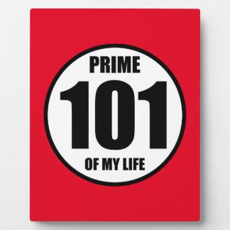 101 - prima de mi vida placa para mostrar