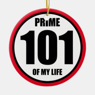 101 - prime of my life ceramic ornament