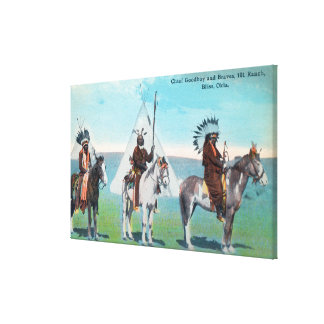 101 Ranch View of Chief Goodboy and Braves Canvas Print