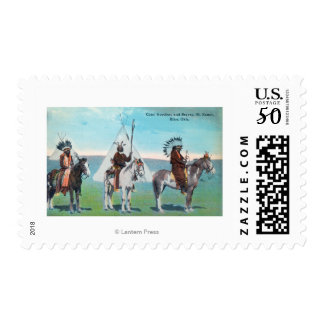 101 Ranch View of Chief Goodboy and Braves Postage