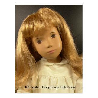101 Sasha Honeyblonde Silk Dress postcard