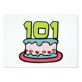 101 Year Old Birthday Cake Card